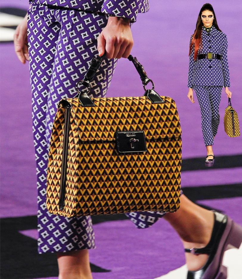 cbc194f4a Fashion & Lifestyle: Prada Geometric Jacquard Print Bags Fall 2012 ...