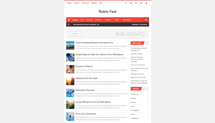 Nubie Fast Template Blogger Responsive - dul.my.id