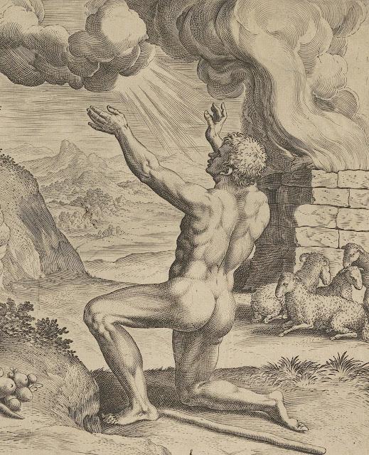 Johann Sadeler: L'offerta di Abele (dettaglio)