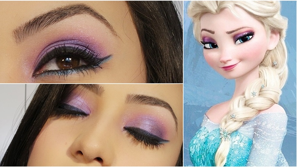 Maquiagem Elsa Frozen Makeup Tutorial Disney