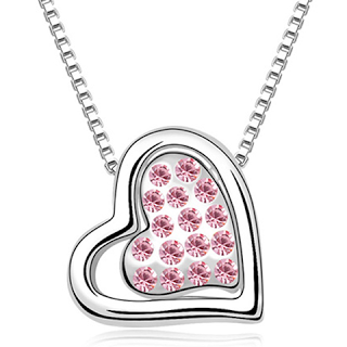Florence Scovel Jewelry Double Heart Ocean Wave Florence Crystal Necklace