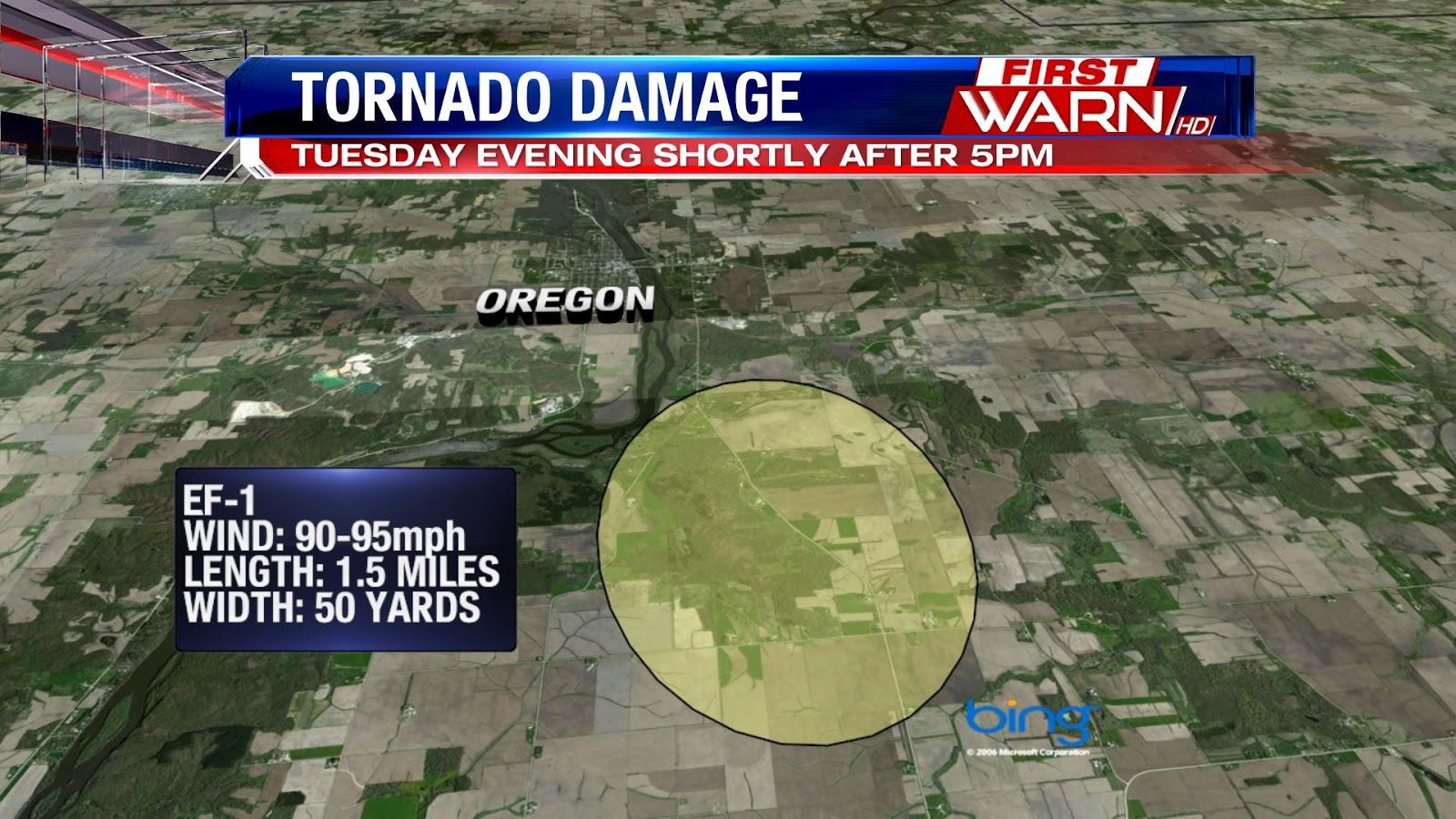 First Warn Weather Team Confirmed Tornado Near Oregon Il Tuesday
