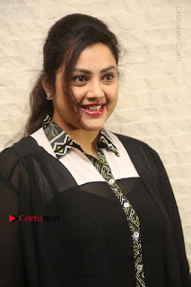 Tamil Actress Meena Latest Stills in Black Dress at TSR TV9 Awards Press Meet  0012.JPG