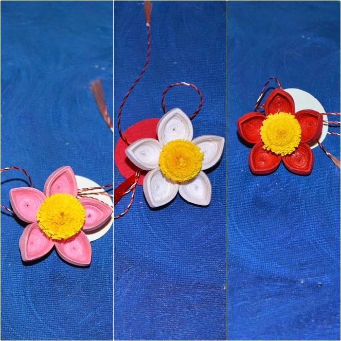 Flori de primavara - martisoare cu ac de brosa - Circul Magic
