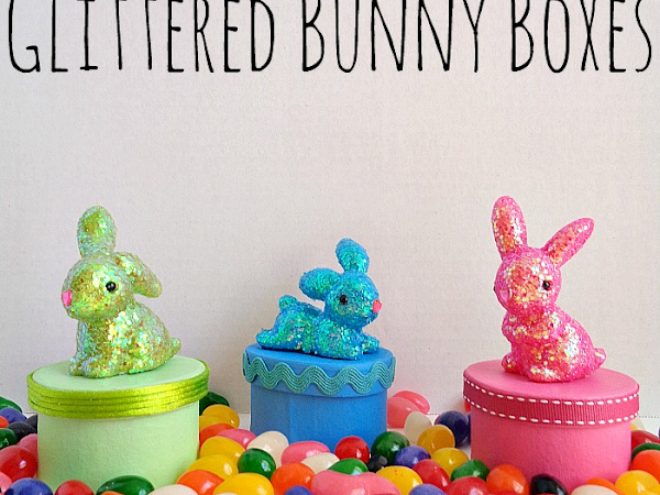 3 Step DIY: Glittered Bunny Boxes