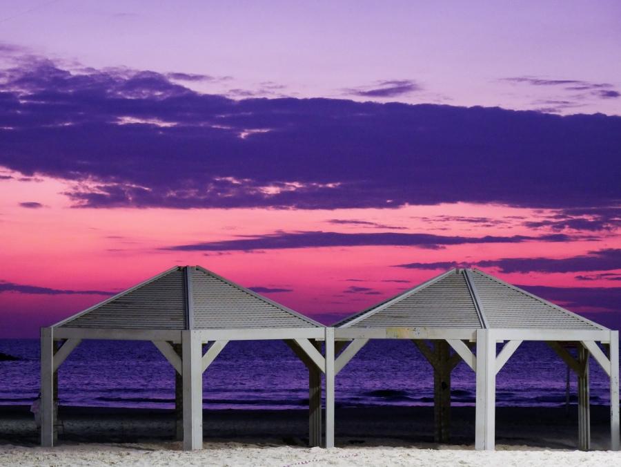 Tel Aviv auringonlasku meri