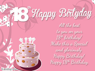 18th birthday messages wishes