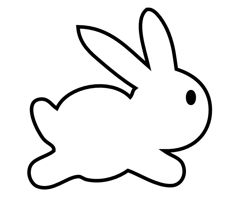 Rabbit Black And White Clipart - Clipart Suggest |Cute Rabbit Clipart Black And White