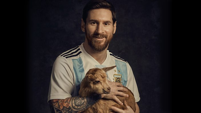 This cute goat is not Messi's mascot