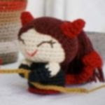 patron gratis demonio amigurumi | free amiguru pattern demon