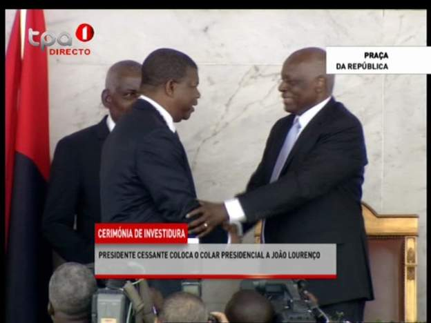 Angolan leader Joao Lourenco is sworn in