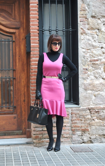 Office look :: Pink dress
