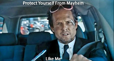 Mr. Mayhem driving commercial as a general advertising promotional method