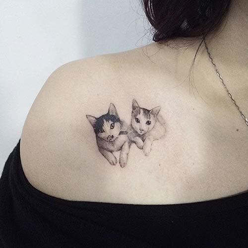 kedi dövmeleri cat tattoos 21