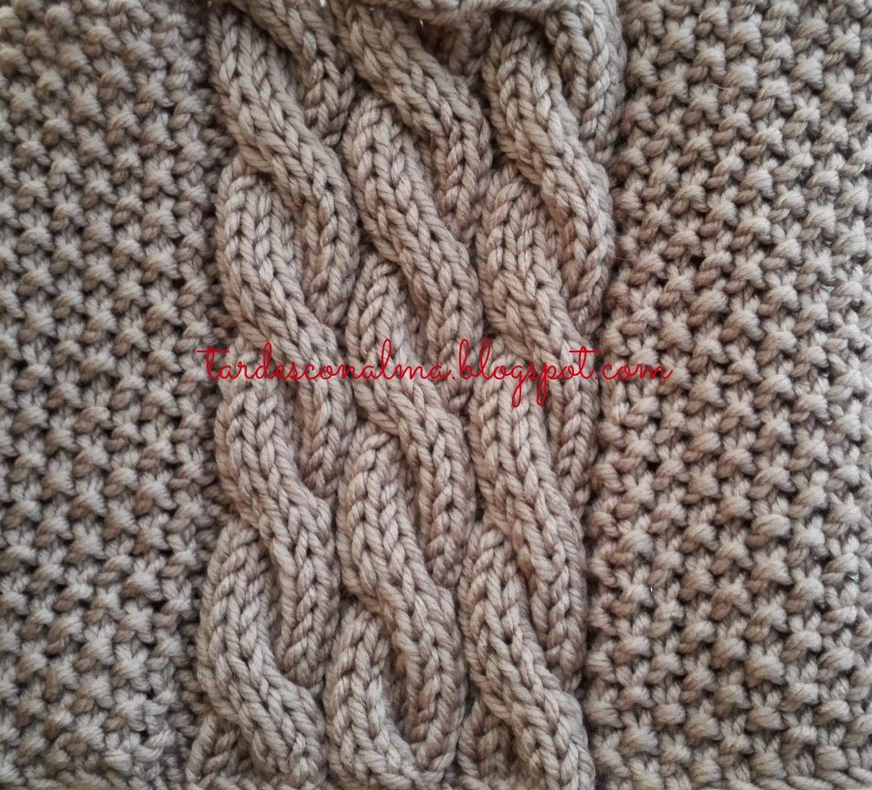 tardesconalma.blogspot.com tutorial DIY bufanda modelo Octo foto2