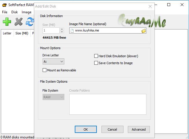 SoftPerfect RAM Disk terbaru