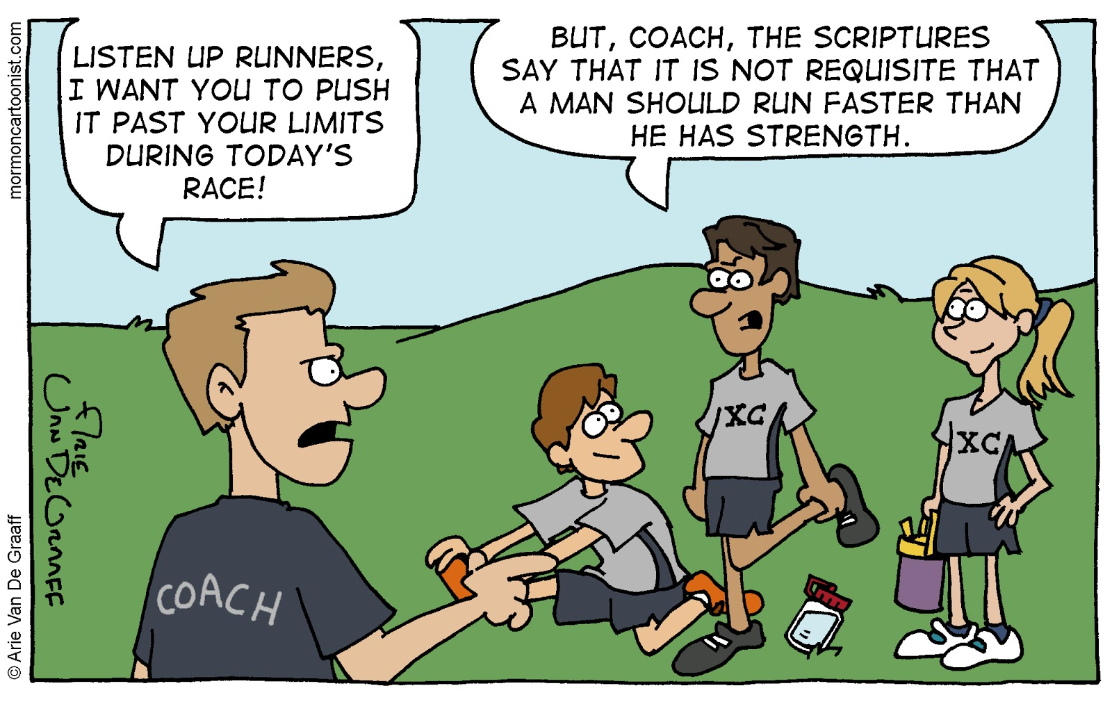 Something Tells Me That Cross Country Coaches Dont Like This Particular Counsel From King Benjamin