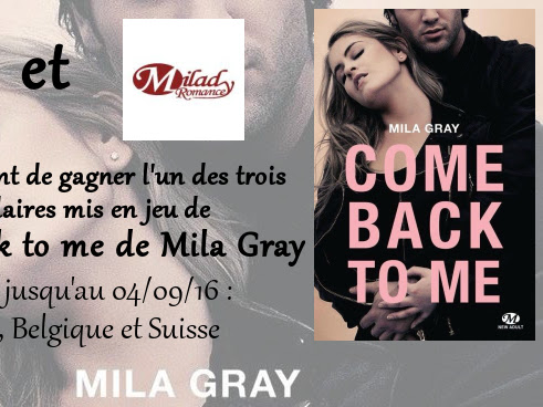 [Concours] Come Back to Me de Mila Gray - Résultat