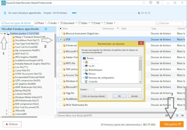 récupérer fichier supprimé corbeille, logiciel de récupération de données après formatage