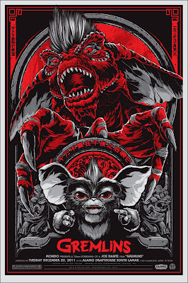 Gremlins Red Variant Screen Print by Ken Taylor