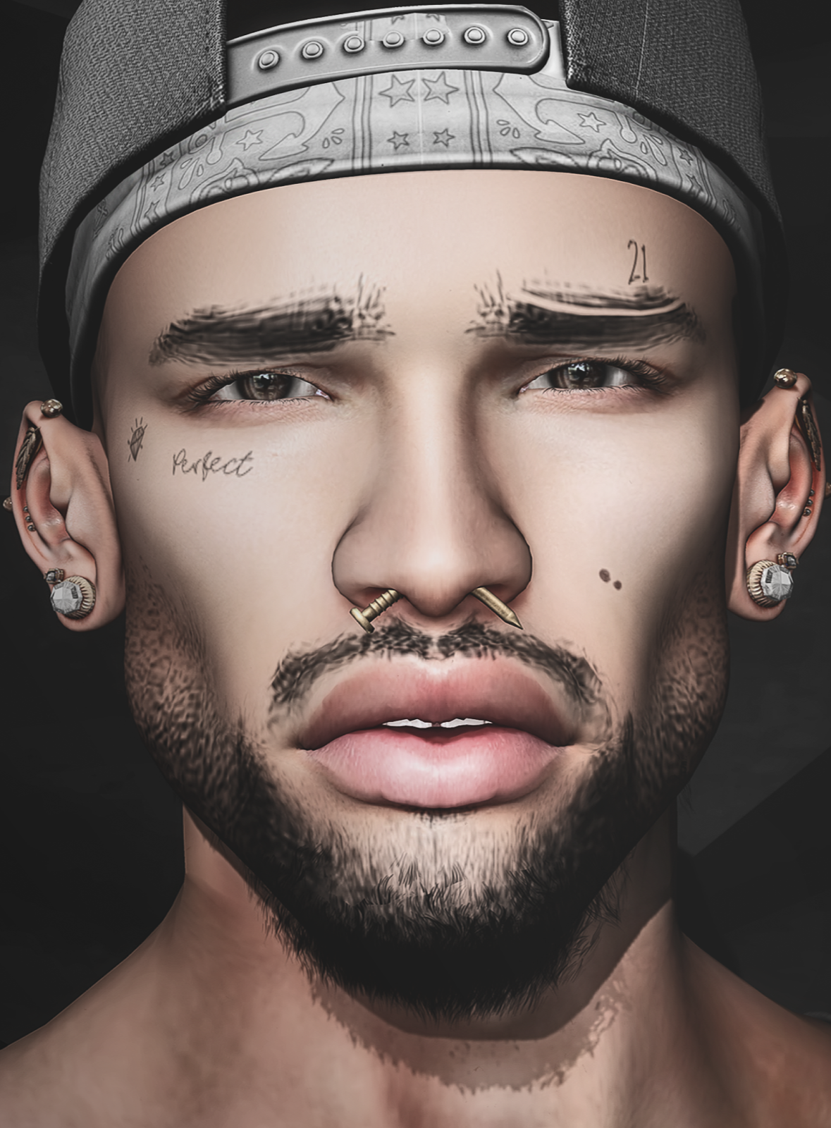 d8df9ce9d Brows - Beard - Face Tattoo: [Hipster Style] Raul COMBO @ Shiny Shabby  (September Round)