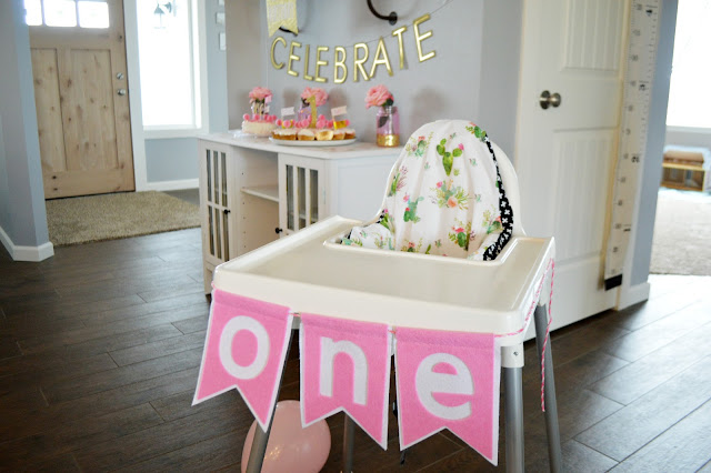 Orchard Girls Blog - Pink & Gold First Birthday Party