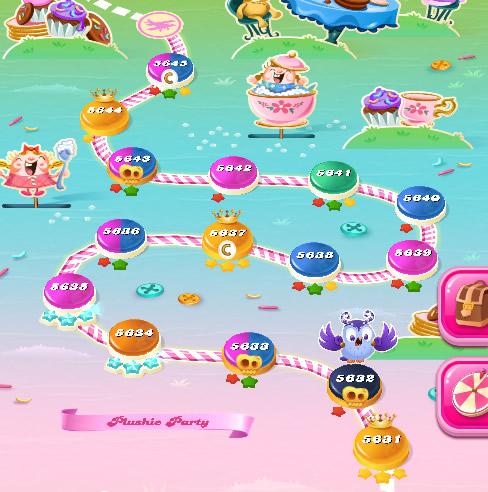 Candy Crush Saga level 5631-5645