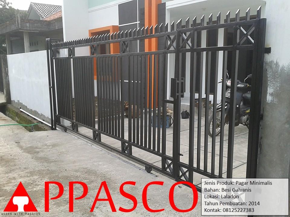 Pagar Minimalis di Laladon Bogor