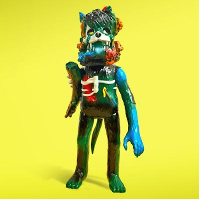 Five Points Festival 2018 Exclusive Crusty Fungus Wolf Vinyl Figure by Joshua Herbolsheimer x Super7