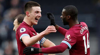 Declan Rice lone goal hands West Ham 1 - 0 victory over Arsenal