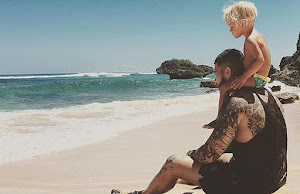 Timati on holiday with her daughter and former lover