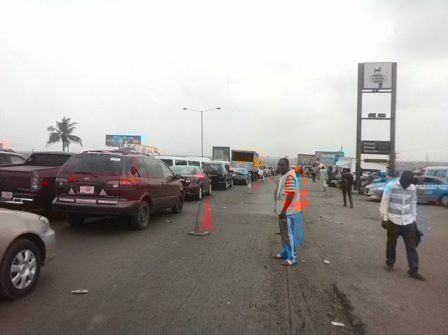 Traffic Update on Lagos - Ibadan Express way on 21/01/17