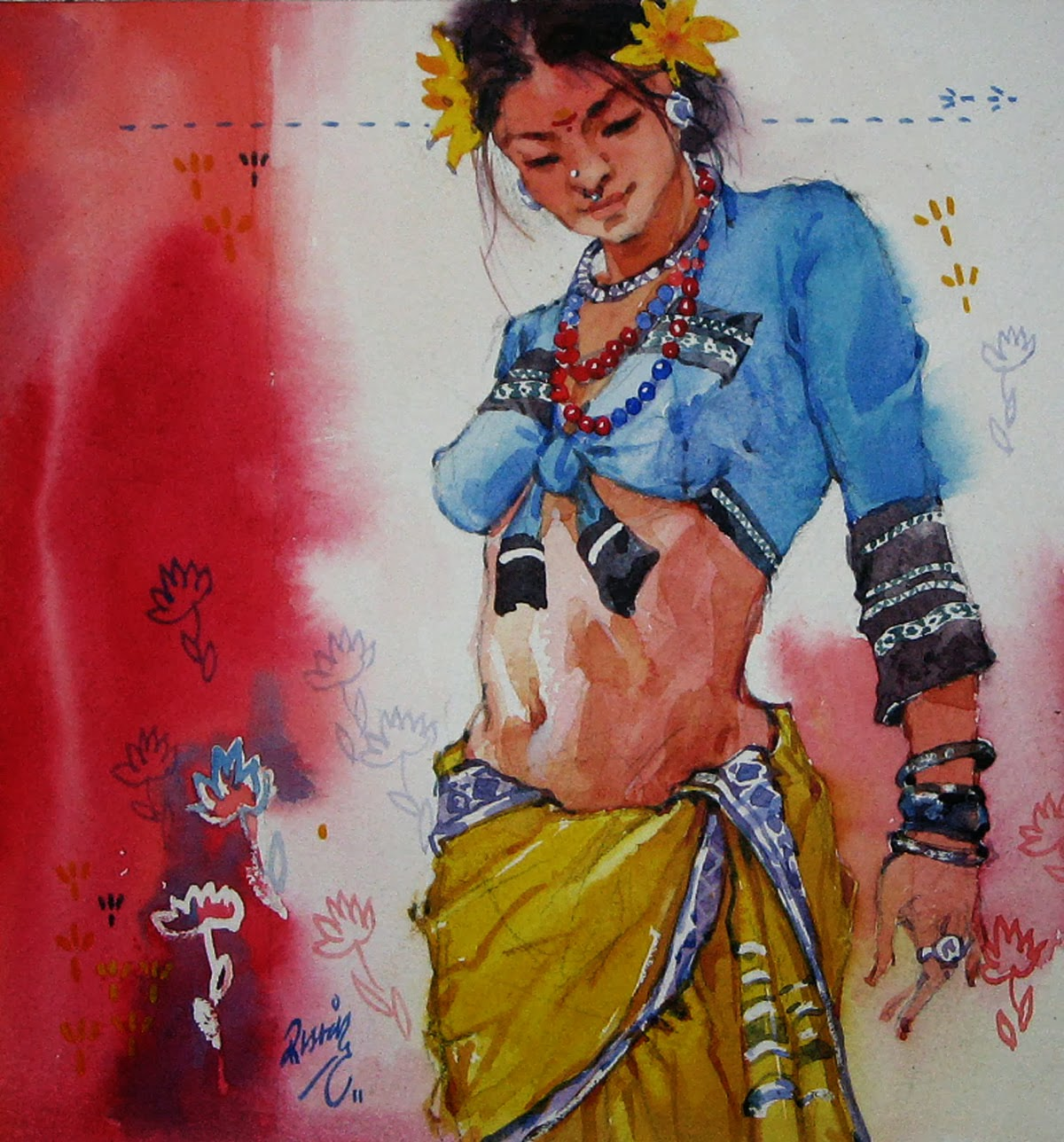 Mind Blowing Indian Woman Paintings By Indian Artist