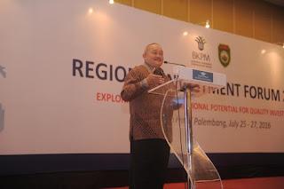 Alex Noerdin Buka Pertemuan Sumatera Region Invesment Forum