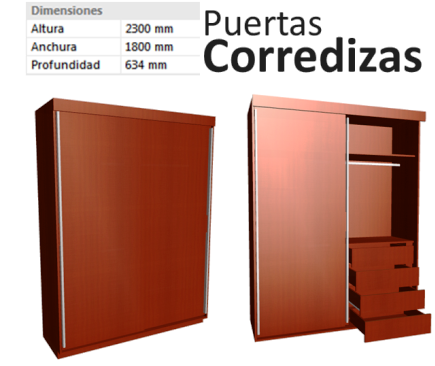Dise o de muebles madera closet armario puertas for Medidas de zapateras