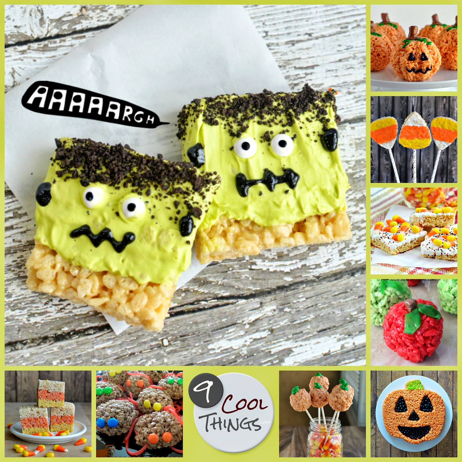 9 Halloween Rice Krispies Treats Recipes |  9CoolThings.com
