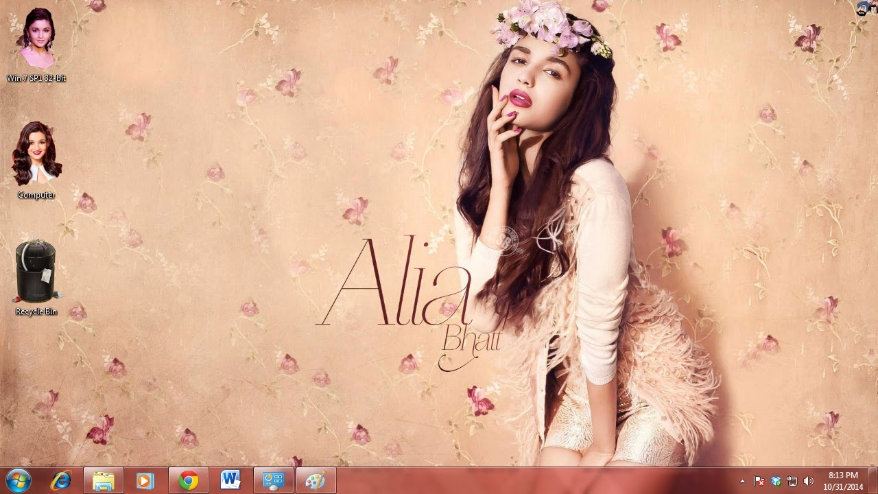 How to use Alia Bhatt wallpapers as a Windows theme