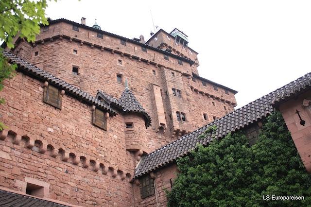 винная дорога, Эльзас, замок Верхний Кенигсбург, Франция,замок