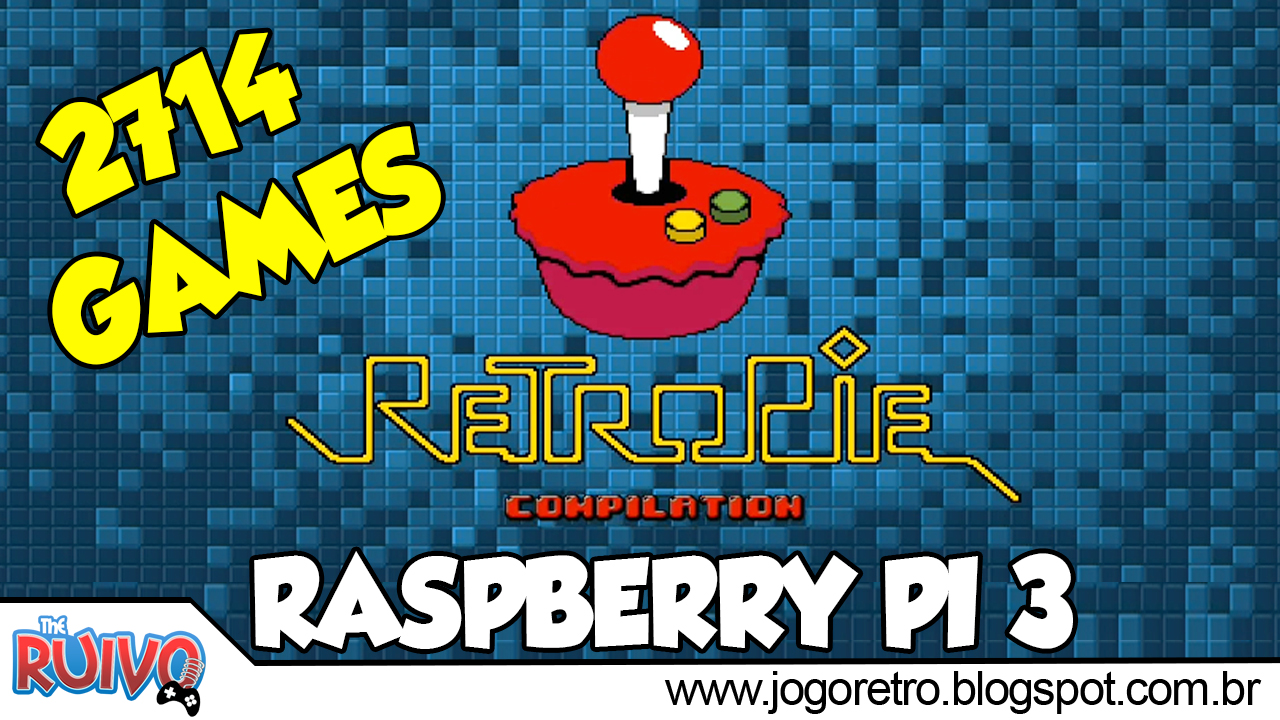Raspberry Pi 3 - RetroPie 16GB com 2 714 GAMES (SNES / Megadrive