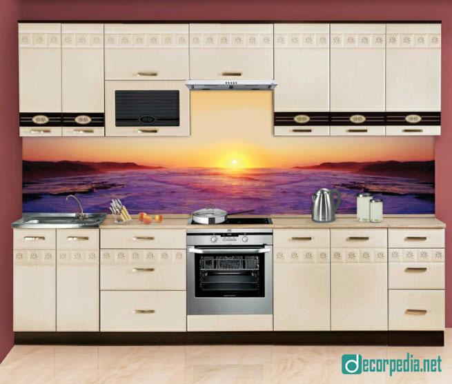 Modern 3d glass backsplash panels for modern kitchens