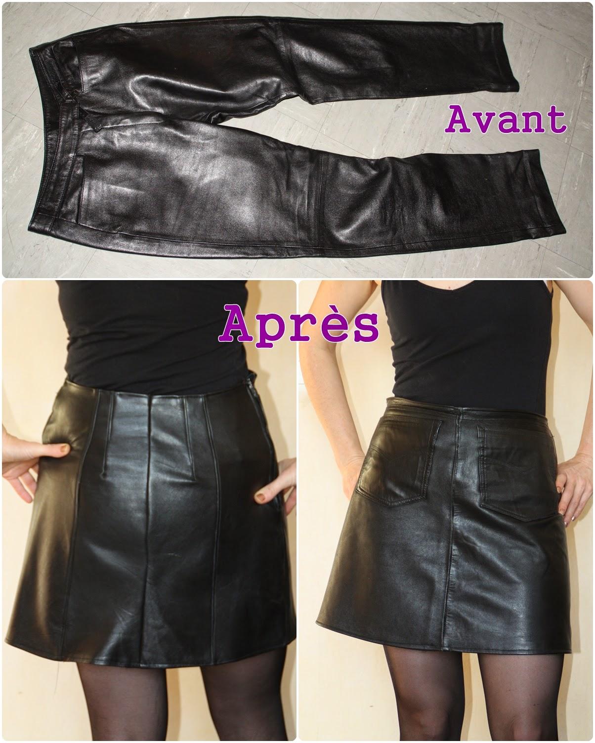 Made in liochka recyclage d 39 un pantalon en cuir - Comment detacher un vetement ...