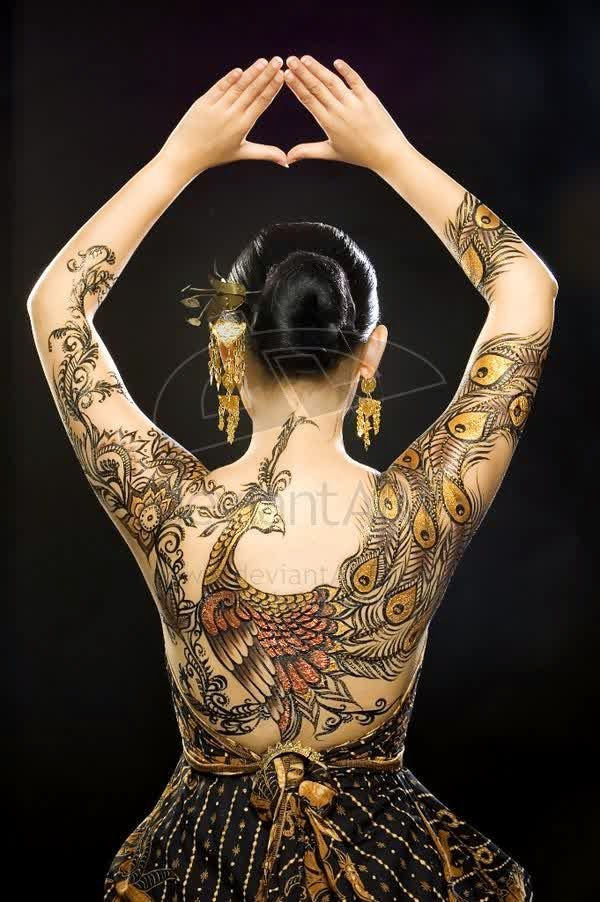 Art And Craft Projects Easy Batik Body Painting Design Ideas