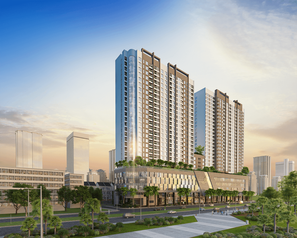 Phối cảnh dự án chung cư The Golden Palm