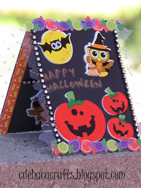 Handmade happy halloween card by CdeBaca Crafts.