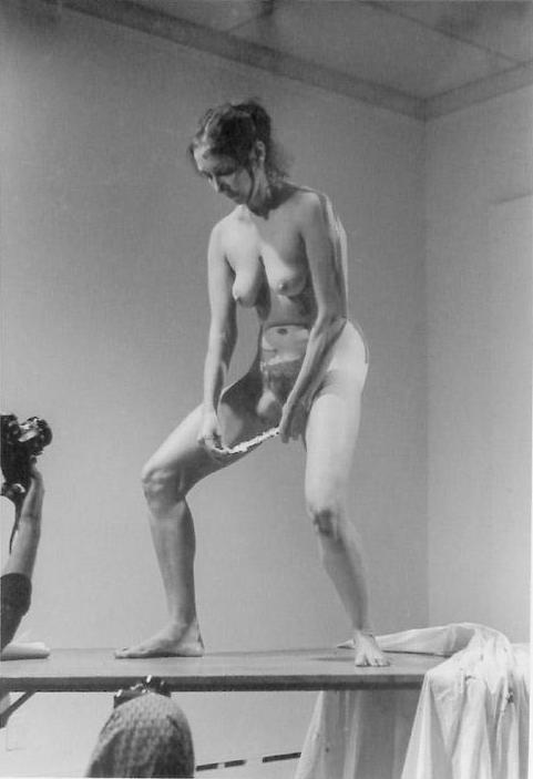 Carolee Schneemann, Interior Scroll (1975)