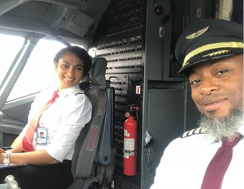 First Female Pilot In Akwa Ibom Marks 10th Wedding Anniversary With Pilot Husband