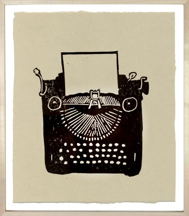 Hugo Guinness Linocuts Typewriter