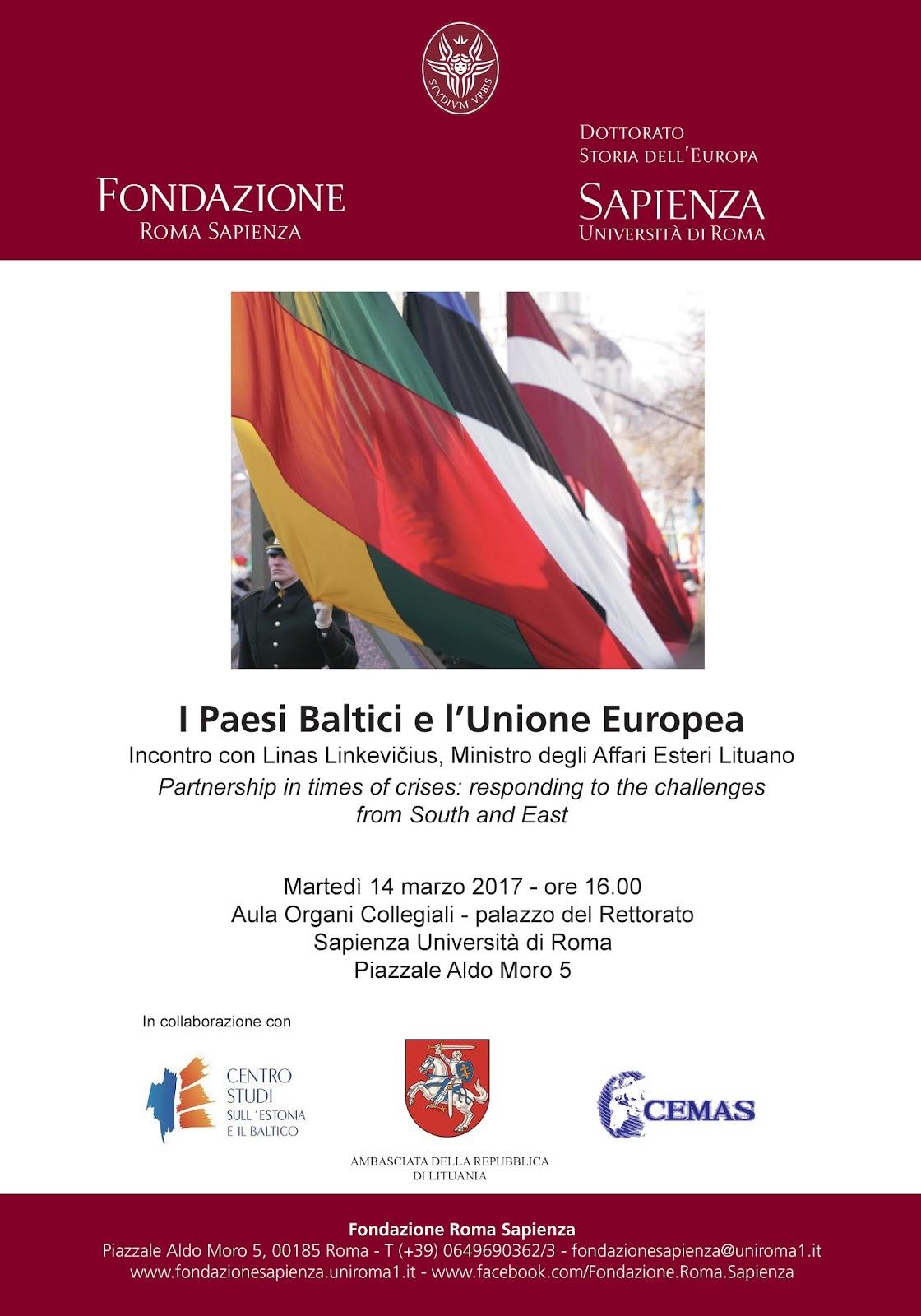 Dottorato Storia Deuropa I Paesi Baltici E Lunione Europea