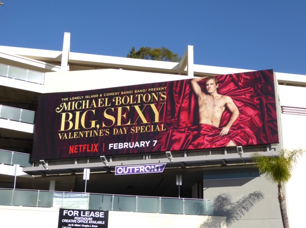 Michael Bolton Big Sexy Valentines Day billboard