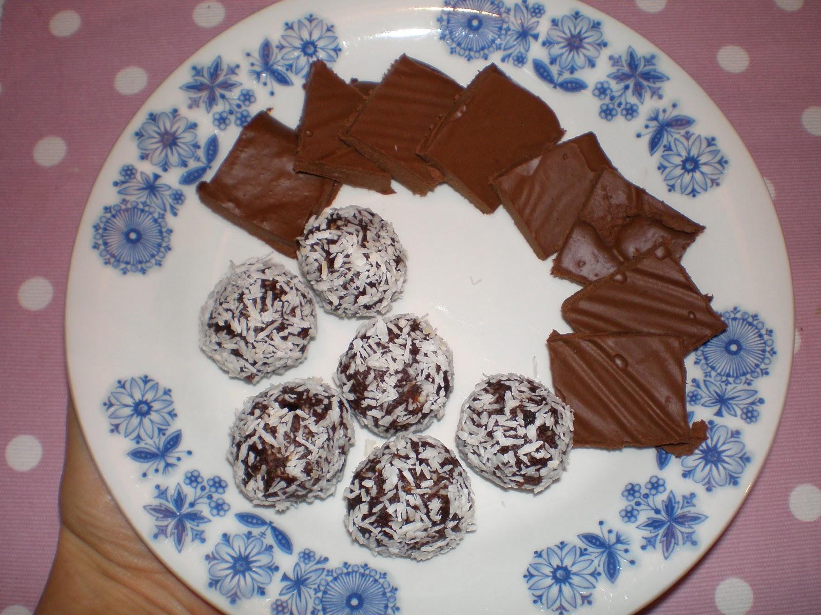 recept på chokladbollar utan socker
